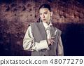 Beautiful nice young woman wearing stylish clothes 48077279