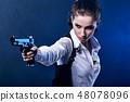 枪 女孩 少女 48078096