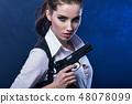枪 女人 女性 48078099