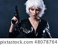 枪 女人 女性 48078764