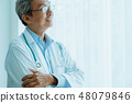 asian doctor standing with confident hospital 48079846