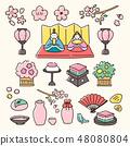 Handwritten Dolls' Illustration Set 48080804