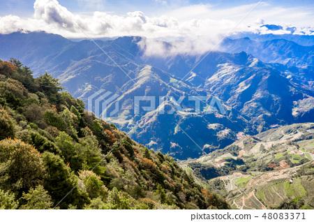 百岳 台灣 合歡山 山 合歓山 空拍 Hehuan Mountain 48083371