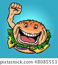 joyful character fast food Burger 48085553