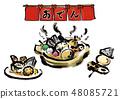 奧登日本傳統蔬菜手寫手繪鍋垃圾 48085721