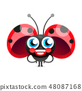 Flirtatious Flying Little Ladybug  48087168