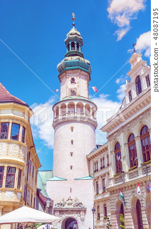 Famous Fire tower in Sopron, Hungary 48087195