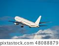 喷气式客机起飞现场 48088879