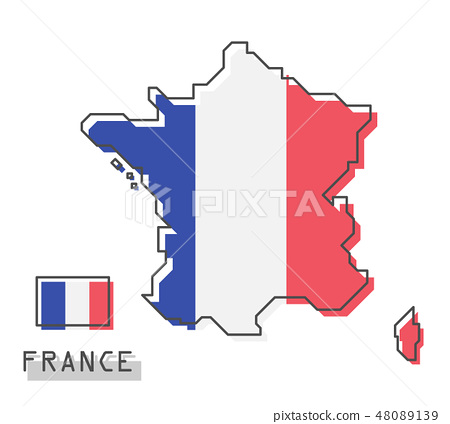 France map and flag .  48089139