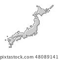 Japan map .  48089141
