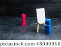 The artist paints a portrait of a women. Art 48090958