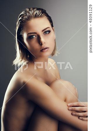Charming naked girl 48091129