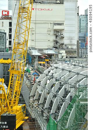 澀谷步行:東京地鐵銀座線澀谷站搬遷工作 48094195