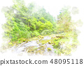 오쿠 타마의 맑은 수채화 화풍 48095118