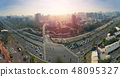 aerial view of  kaohsiung city at sunrise. Taiwan 48095327