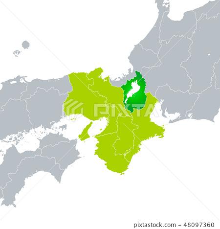 시가현지도와 긴키 지방 48097360