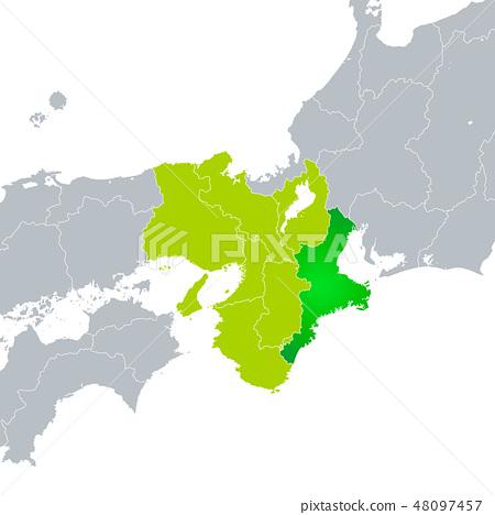 미에현지도와 긴키 지방 48097457