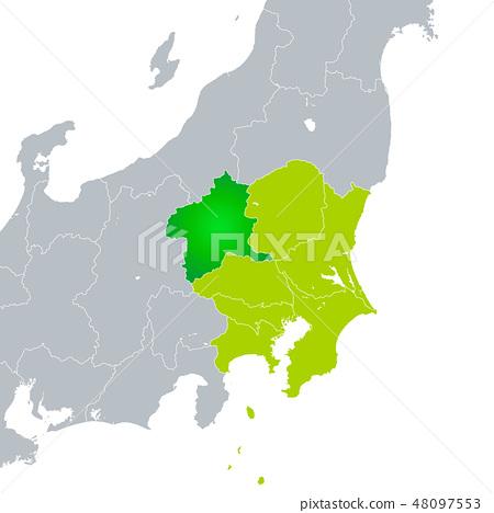군마현지도와 관동 지방 48097553