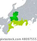 แผนที่จังหวัดกิฟุและเขตโทไก 48097555
