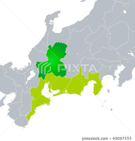 岐阜縣地圖和東海地區 48097555