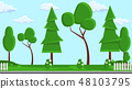 Landscape Design Flat Vector Illustration 48103795