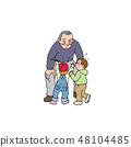 和他的孫子一起玩的爺爺 48104485