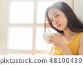 女性生活方式放松 48106439