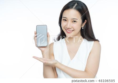 여성 인물 스마트 폰 48106505