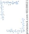 CG 3D 일러스트 디자인 입체 마크 음표 음악 사운드 배경 투명 장식 유리 자르기 48108021