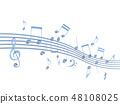 CG 3D 일러스트 디자인 입체 마크 음표 음악 사운드 배경 투명 장식 유리 자르기 48108025