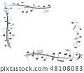 CG 3D 일러스트 디자인 입체 마크 음표 음악 사운드 배경 투명 장식 금속 스크랩 48108083