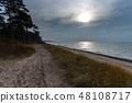 Baltic sea coast in autumn day. 48108717