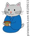 แมวเข้าร่วมในงานเลี้ยงน้ำชา 48109013