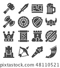 Simple Set of Medieval Related Vector Icons 48110521
