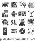 Disco Club or Night Club Icons. 48110524