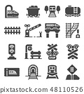 Train and railways icon set.  48110526
