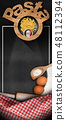 Italian Pasta on a blackboard with copy space 48112394