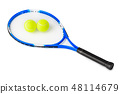 Tennis racket and balls 48114679