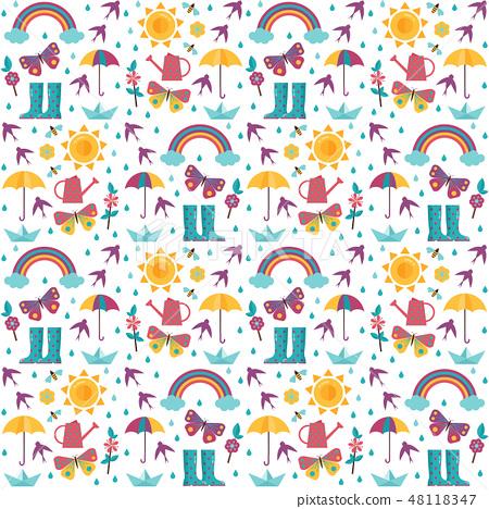 Spring Seamless Pattern 48118347