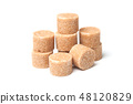 brown cane sugar in shaped circle  48120829