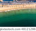 Flamingo beach in Ras Al Khaimah, UAE aerial view 48121286