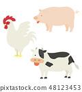 고기가되는 동물의 일러스트 48123453
