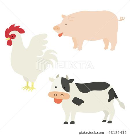 動物的例證成為肉 48123453
