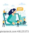 Call center, customer support.  48125373