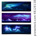 Northern Lights Realistic Banners  48126138