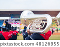 Students military band with tuba 48126955