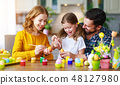 easter, family, paint 48127980