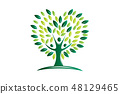 Green tree health and growth vector 48129465