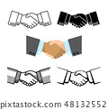 Handshake, business partnership, agreement vector icons 48132552