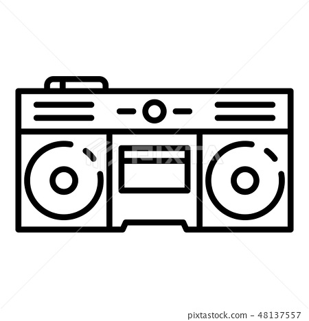 Boom box icon, outline style 48137557